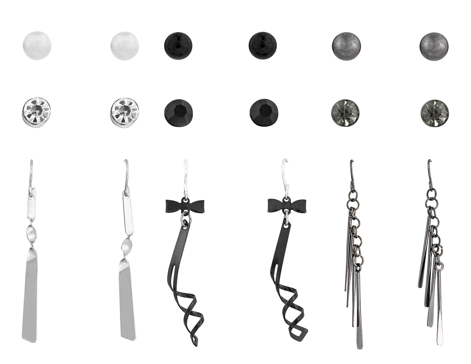Studs & Drop Earring Set of 9