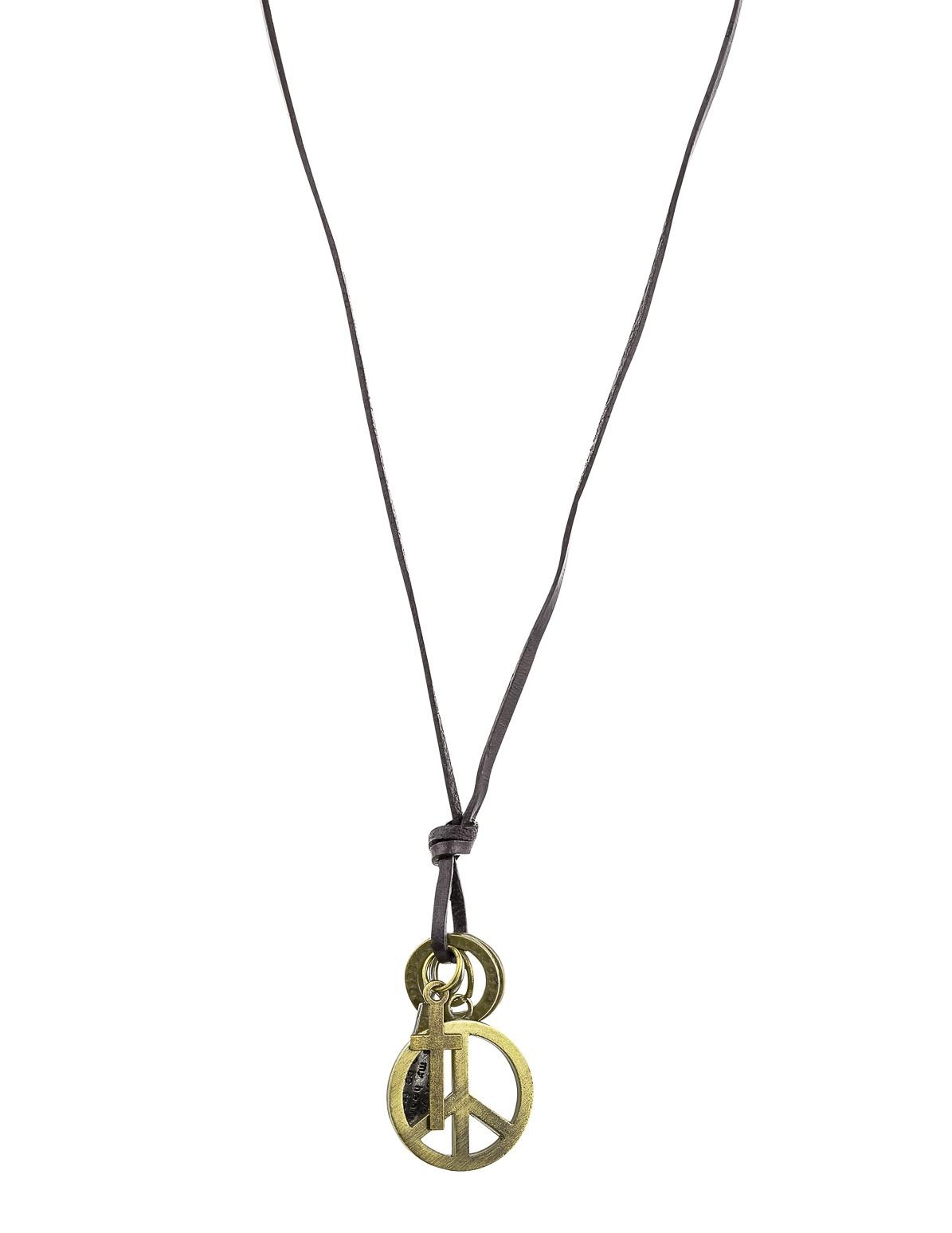 Peace Symbol Charm Necklace