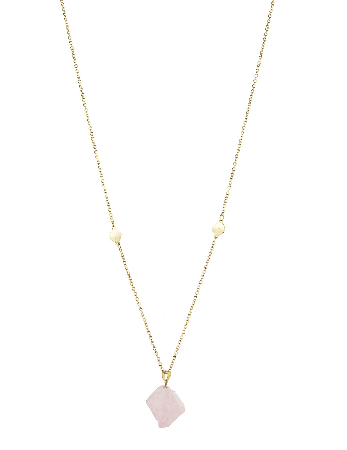 Raw Pink Stone Necklace