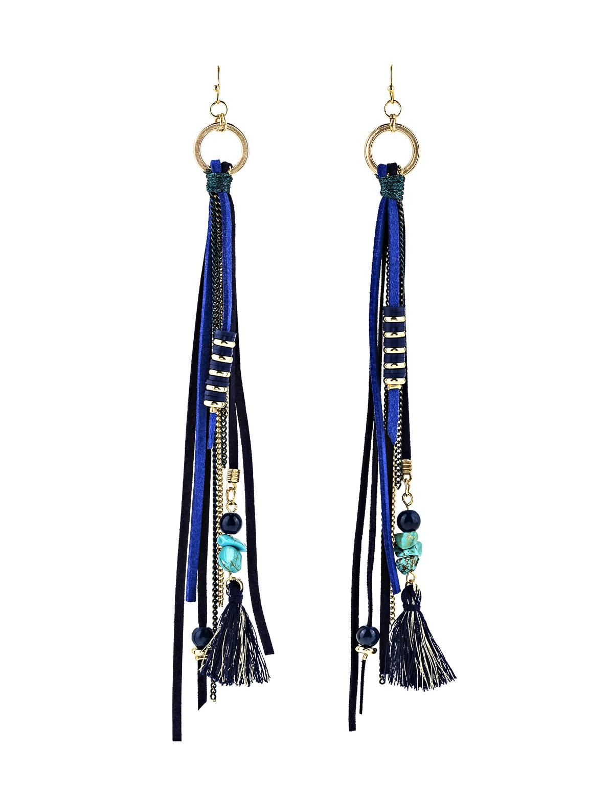 Tassel and Beaded Earrings