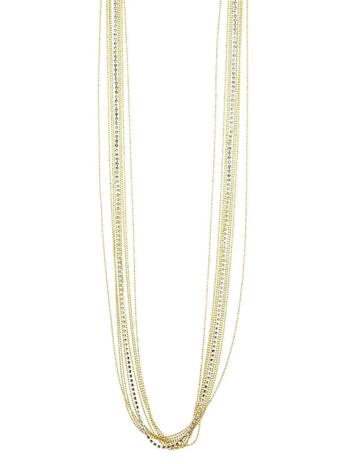 Multi Chain Rhinestone Necklace