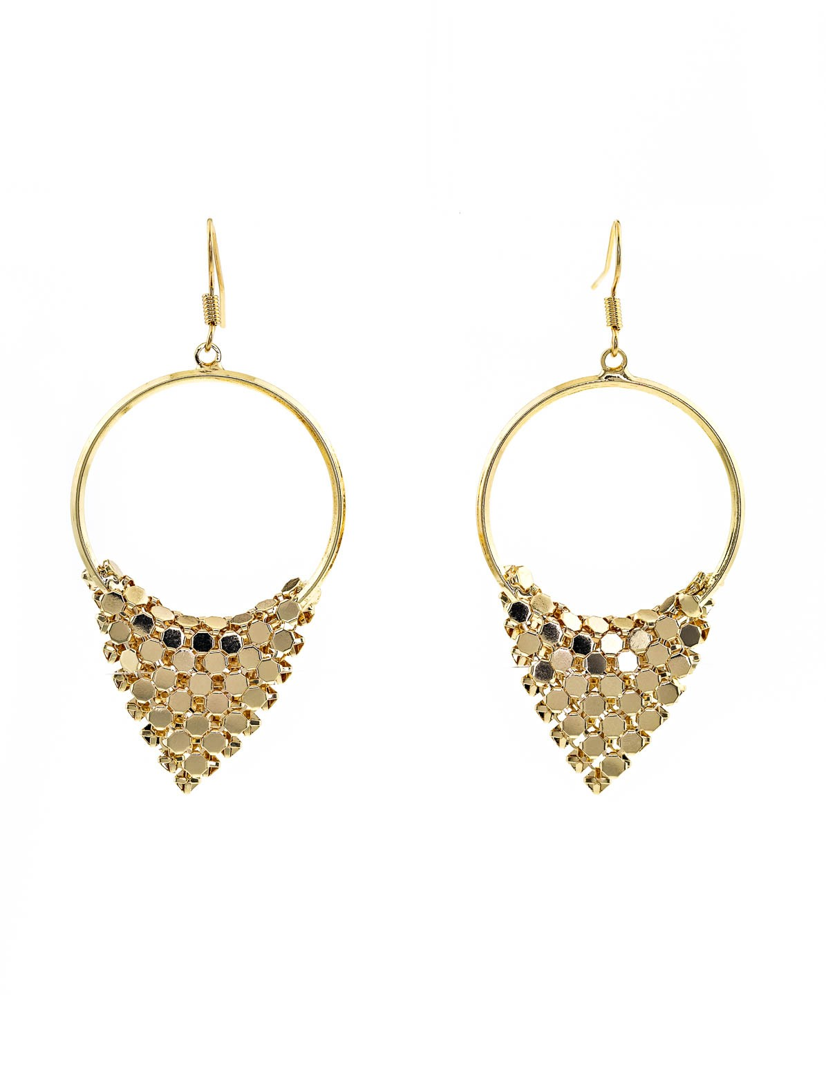 Women's Hoop Chainmail Earrings