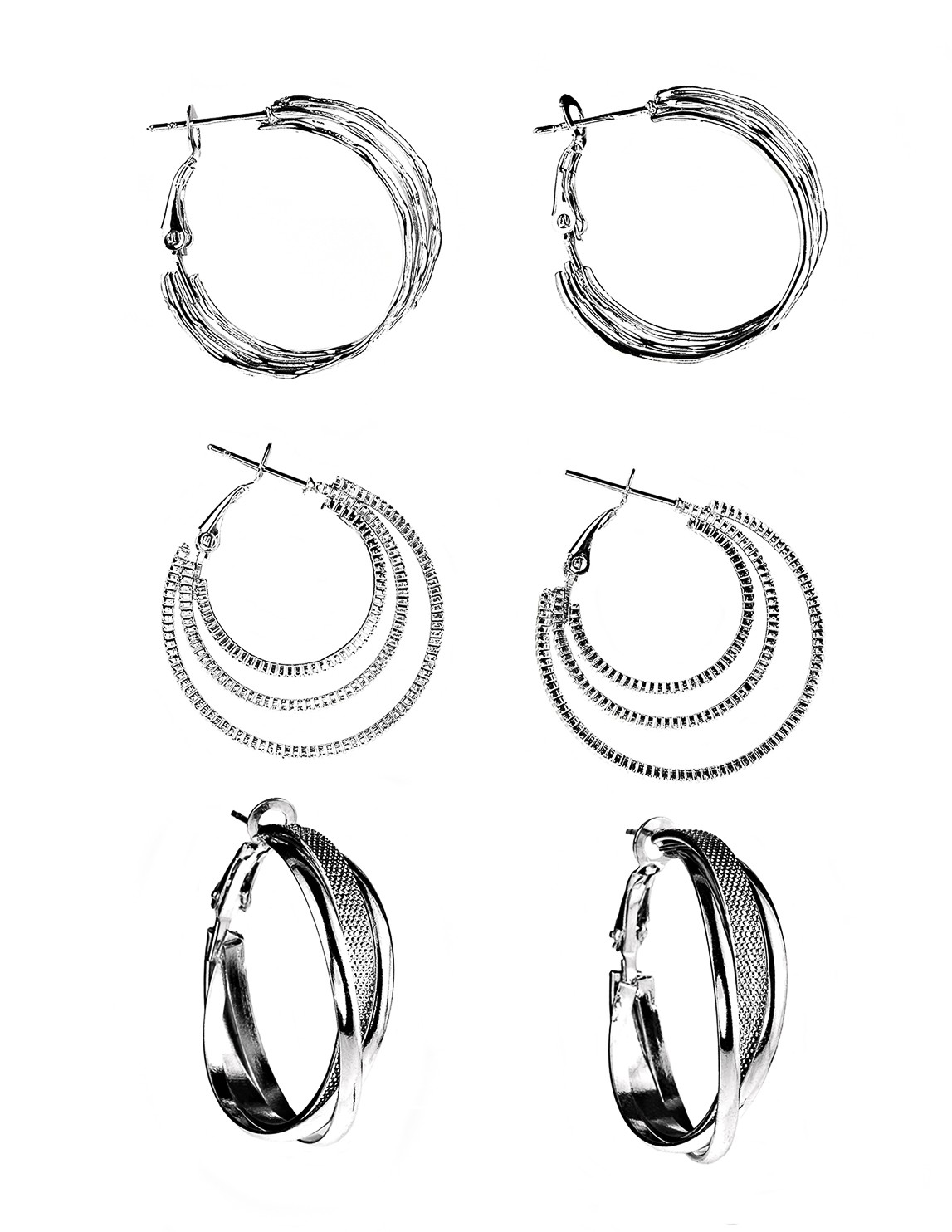 Criss Cross Earrings-Set of 3