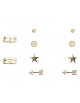 Studs & Cuff Earring Set of 5