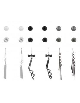 Studs & Drop Earring Set of 9