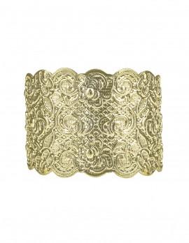 Etched Floral Cuff Bracelet