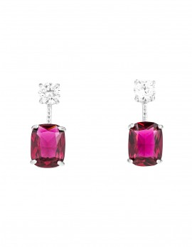 Faux Crystal Drop Earrings