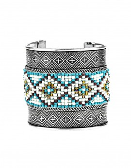 Metal and Beaded Bracelet