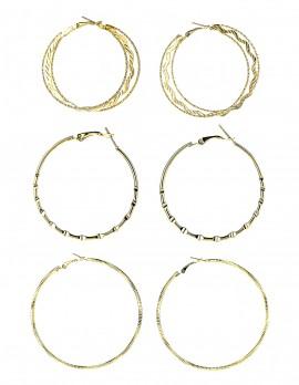 Hoop Earrings-Set of 3