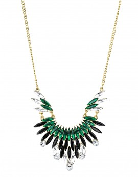Tribal Green and Black Stone Necklace