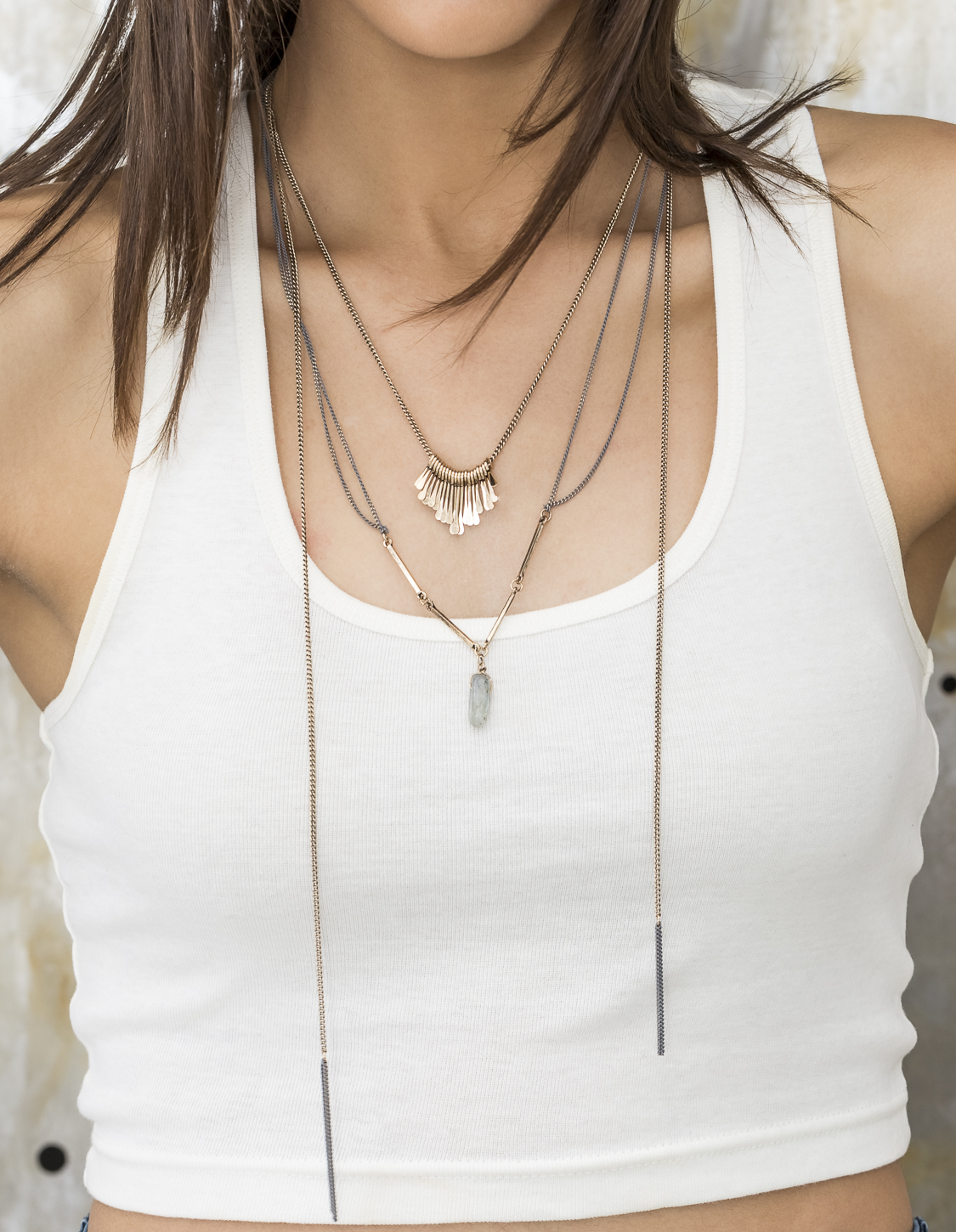 Layered Tassel Necklace with Pendant