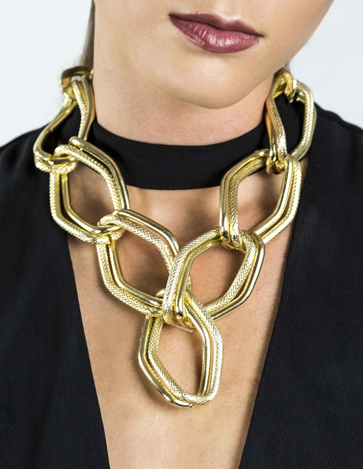 Large Chain Link Statement Necklace