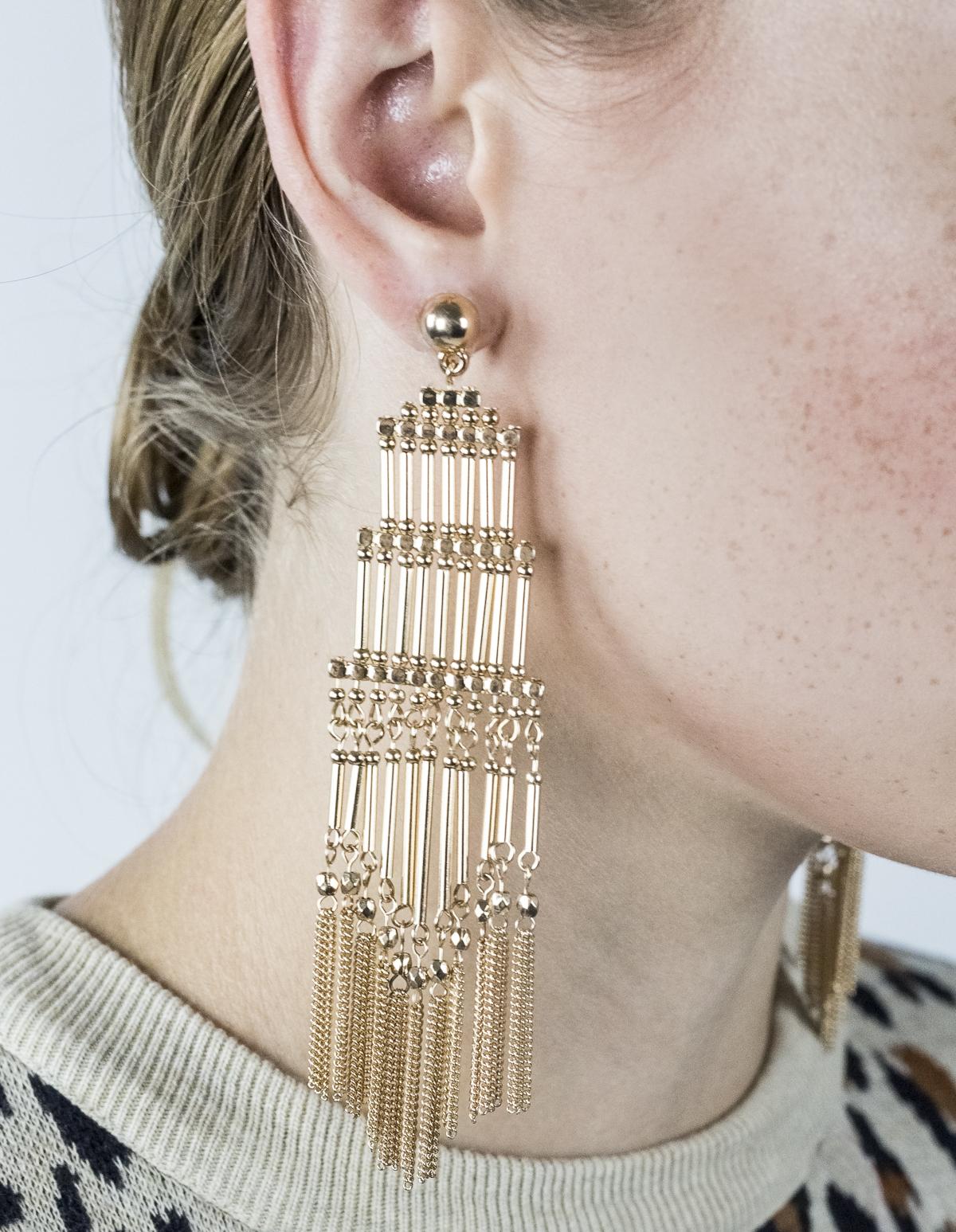 Multi-Tier Column Earrings