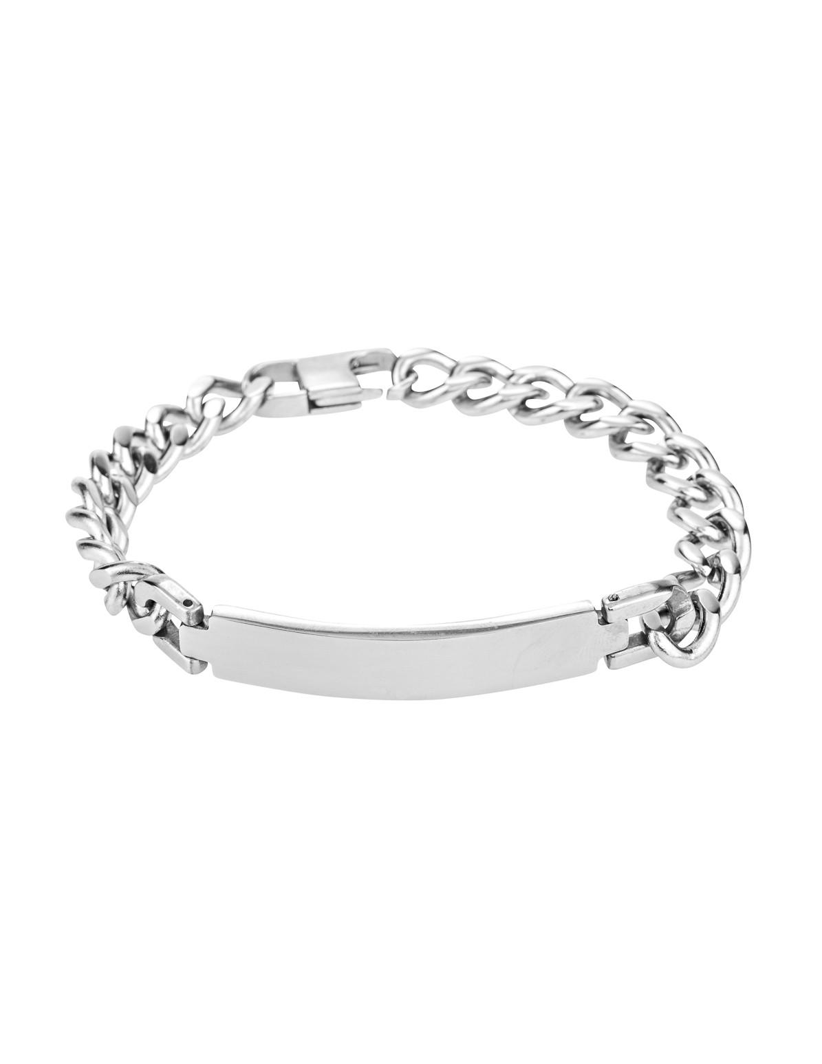 Silver Chain ID Bracelet