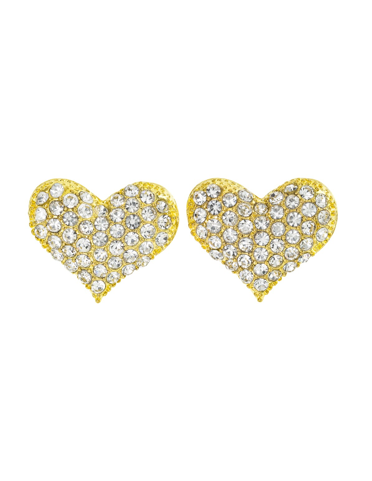 Heart Rhinestone Earrings