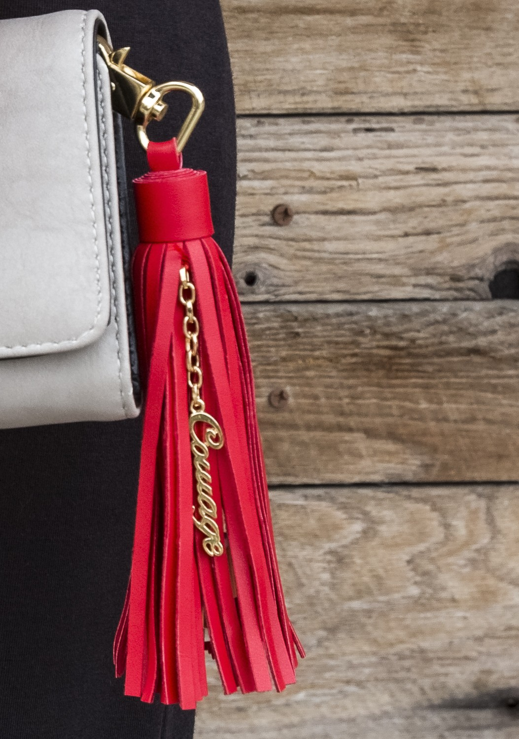 Tassel USB Cable Charger Keychain - Courage