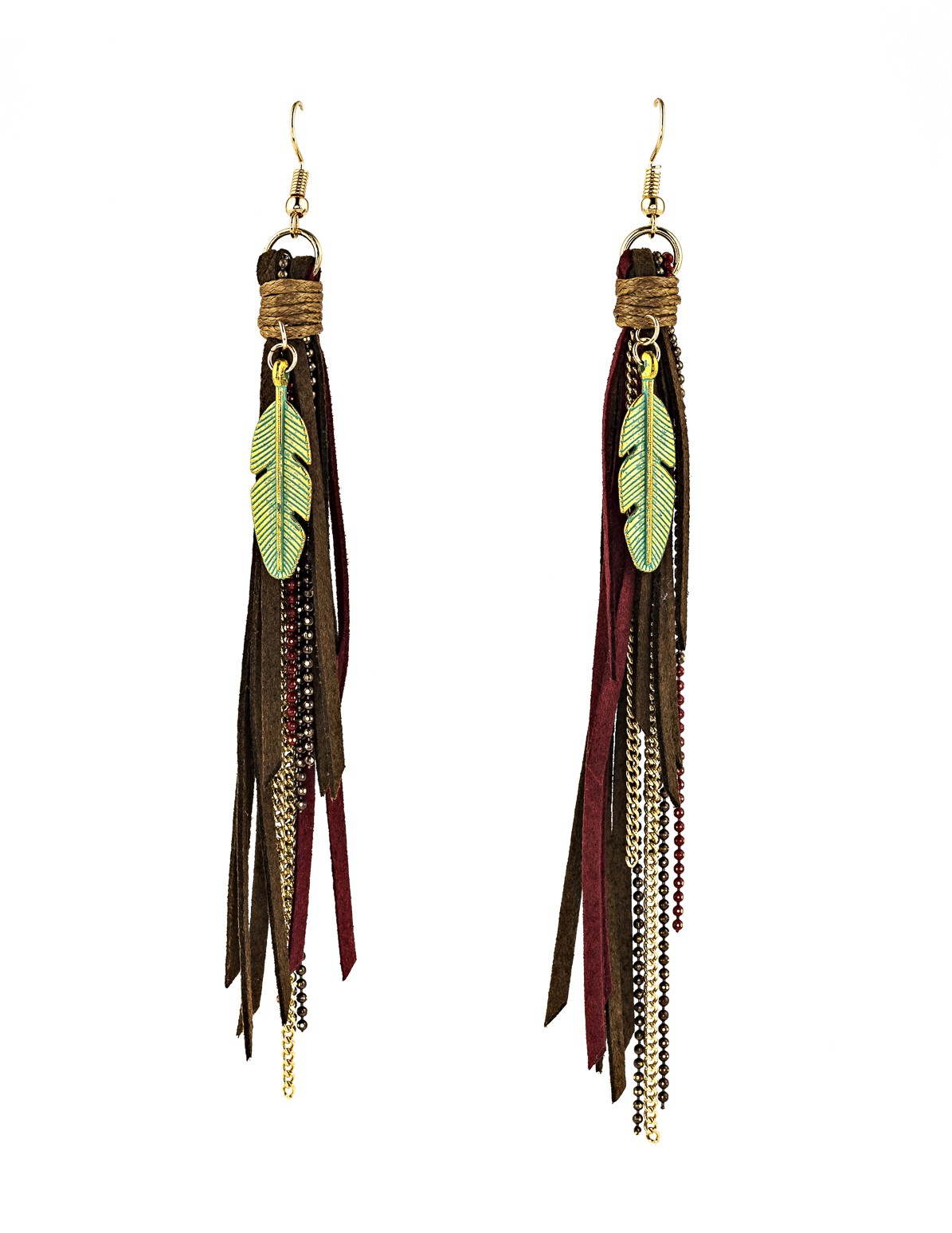 Tassel and Chain Earrings