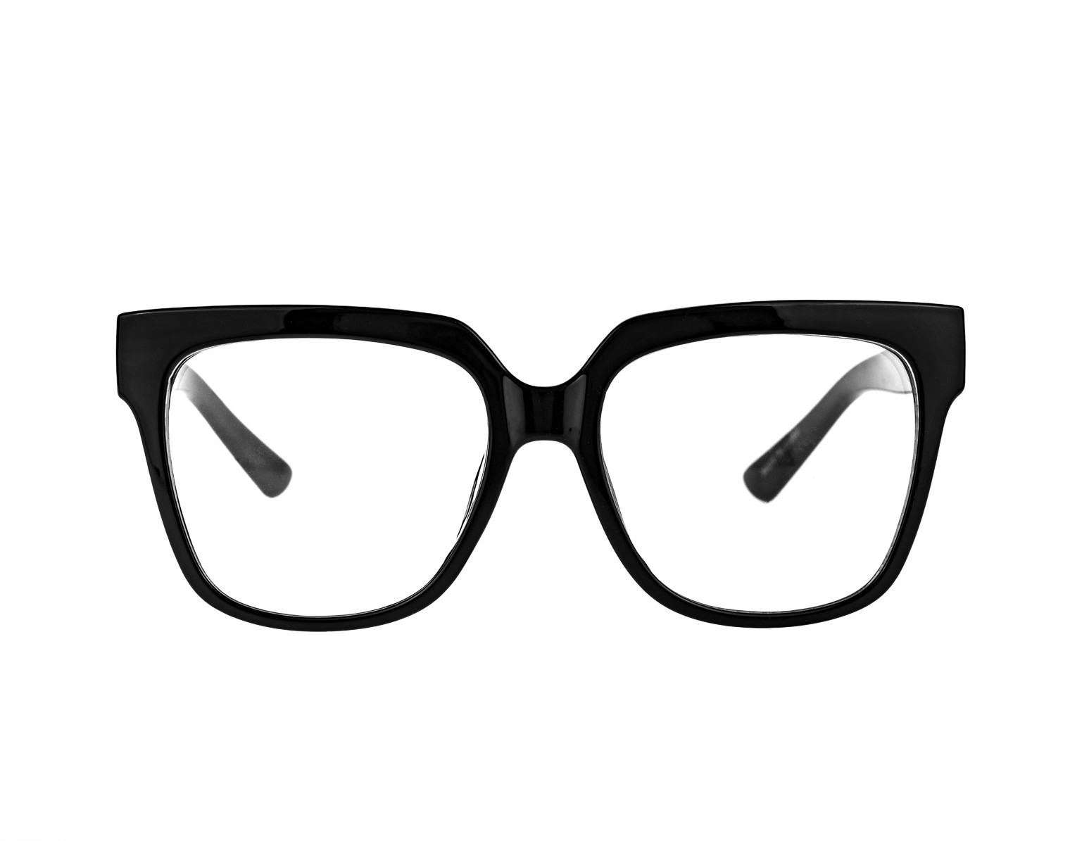 Black Glasses with Clear Lens
