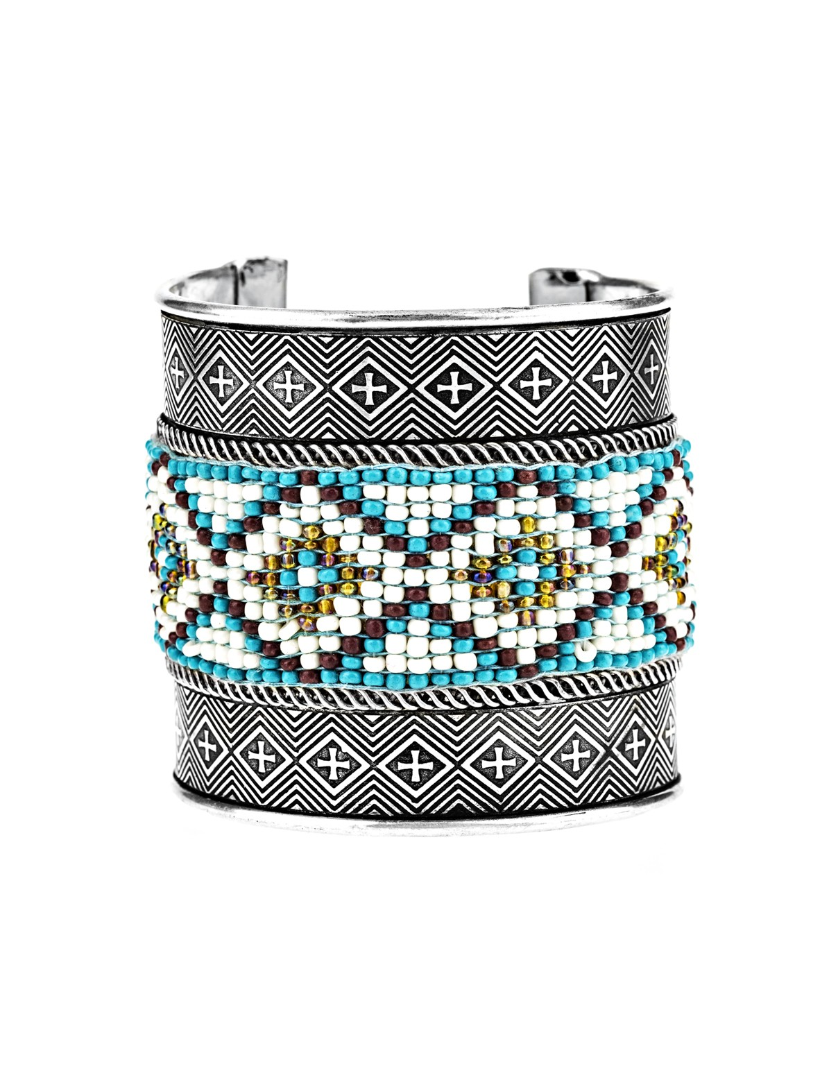 Metal and Beaded Bracelet