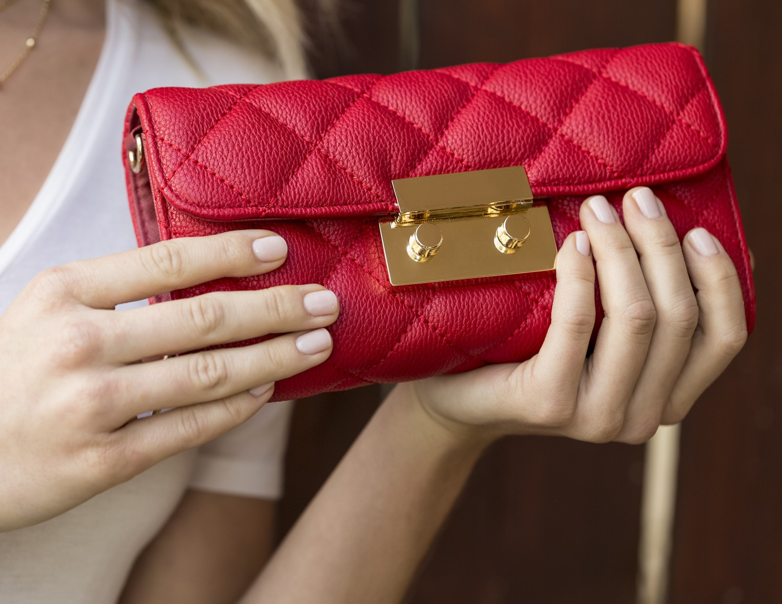Quilted Clutch Wristlet Wallet