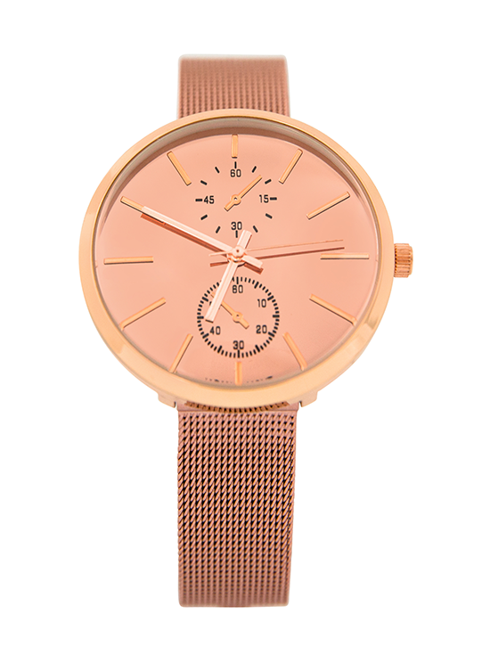 Painted Mesh Banded Watch