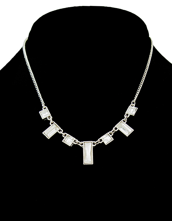 Rectangle Rhinestone Necklace