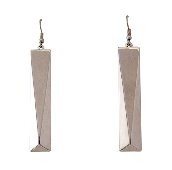 3D Rectangle Earrings