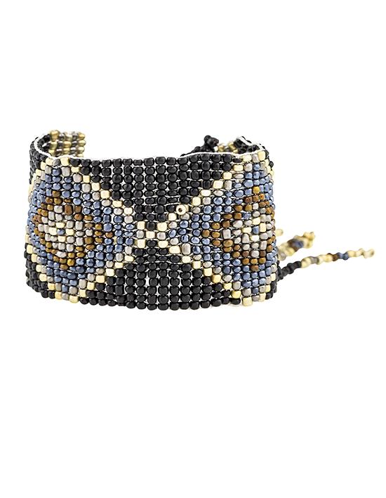 Tribal Design Bead Bracelet