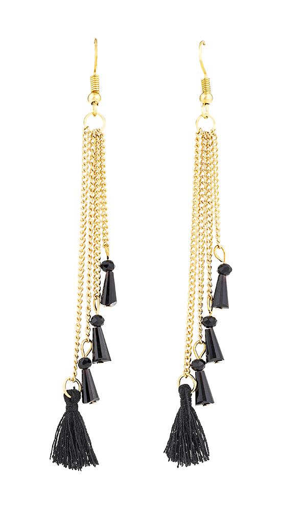 Mini Fringe and Chain Earrings