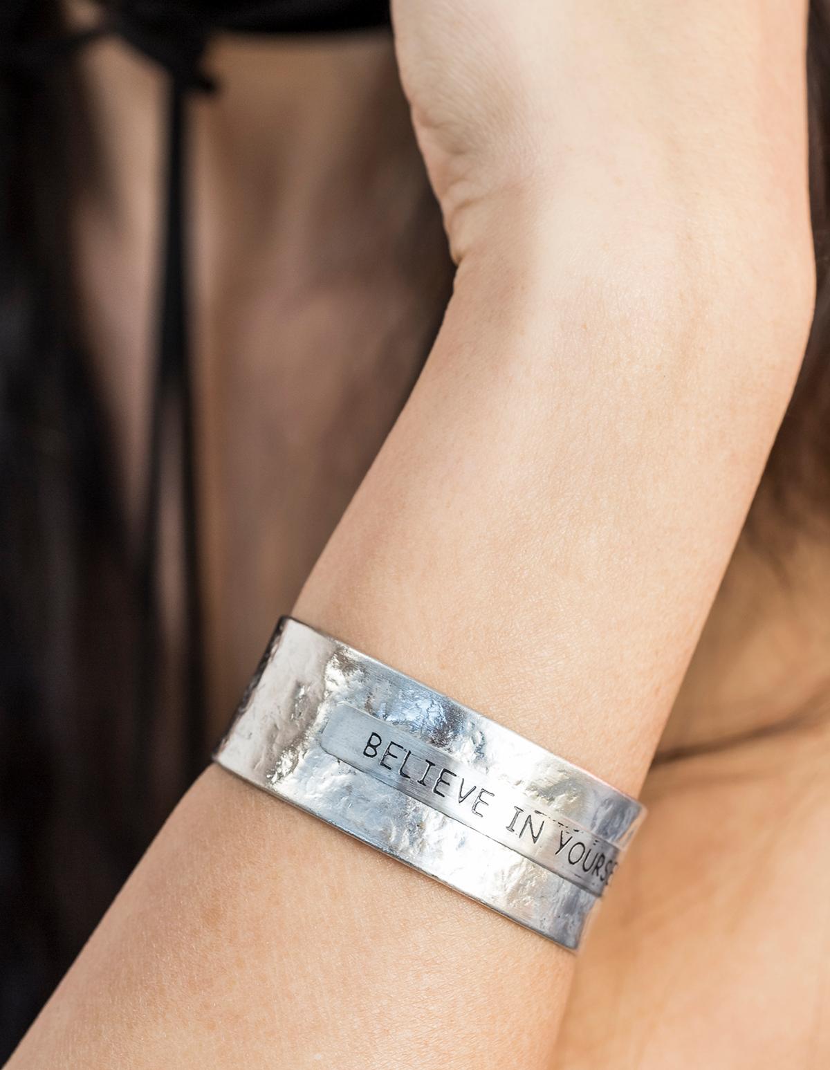 Silver Believe in Yourself Bracelet