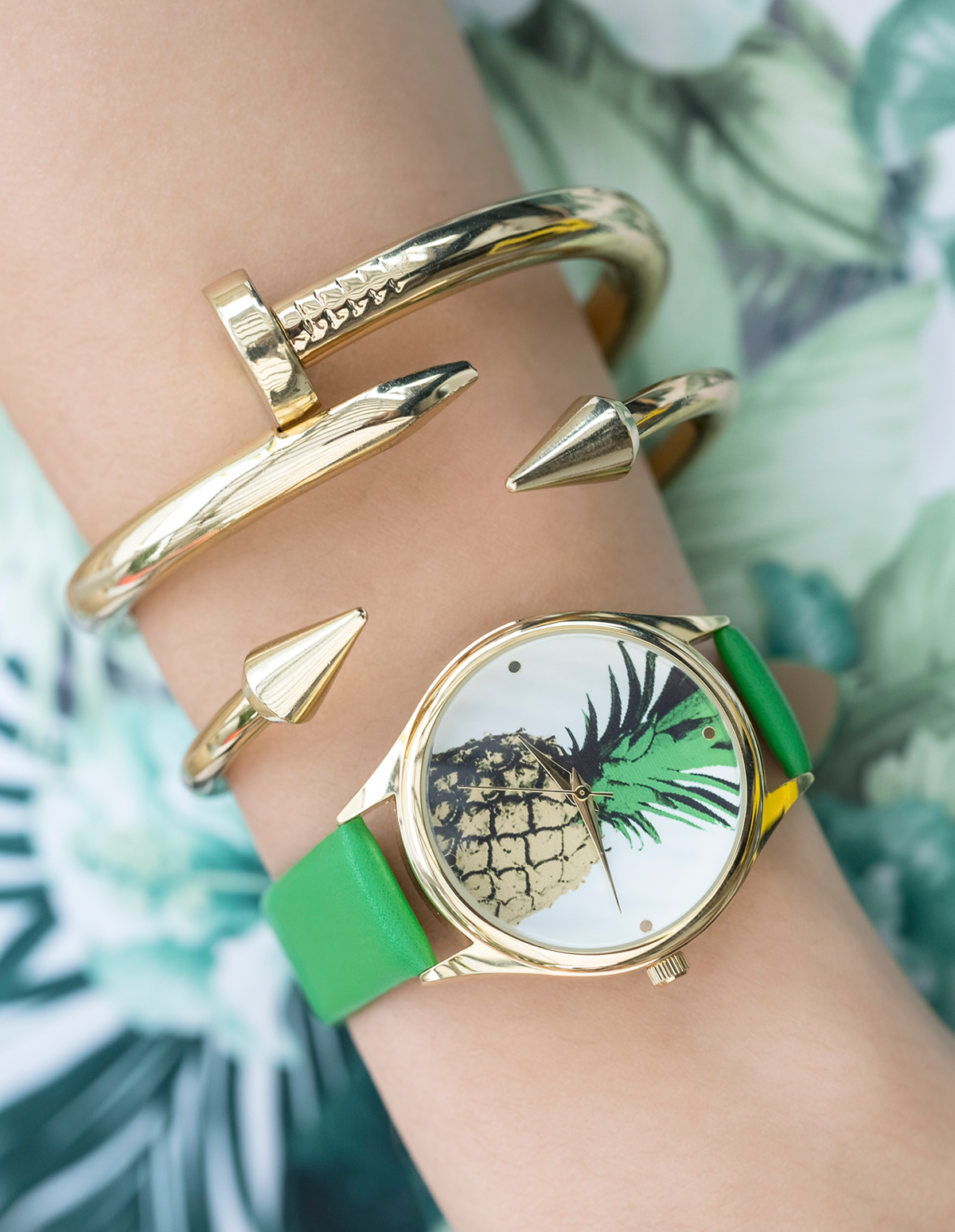 Pineapple Banded Watch
