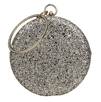 Abbey Glitter Purse-Silver