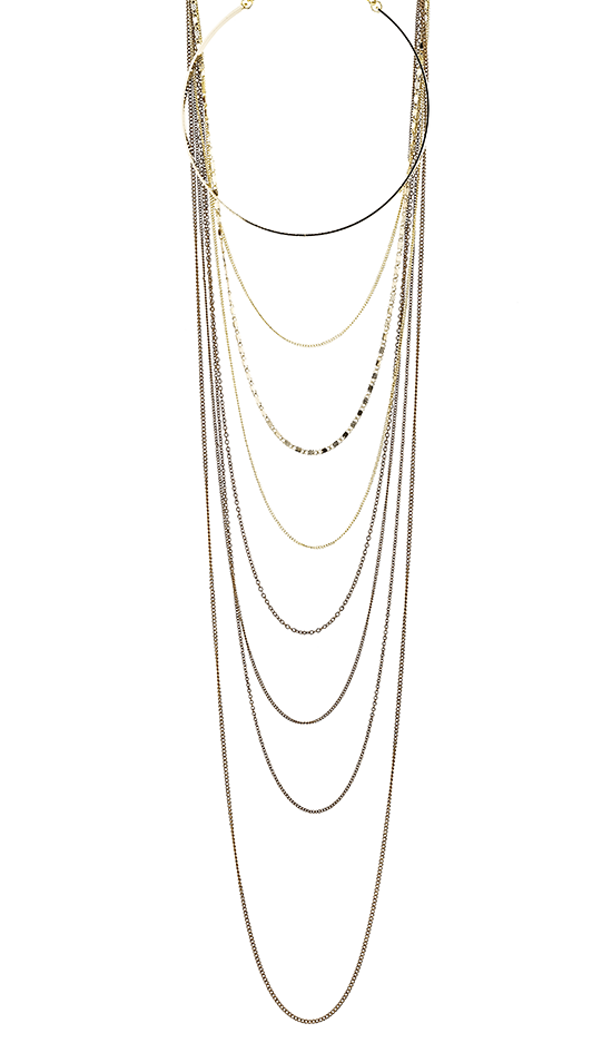 Layered Choker and Chain Necklace
