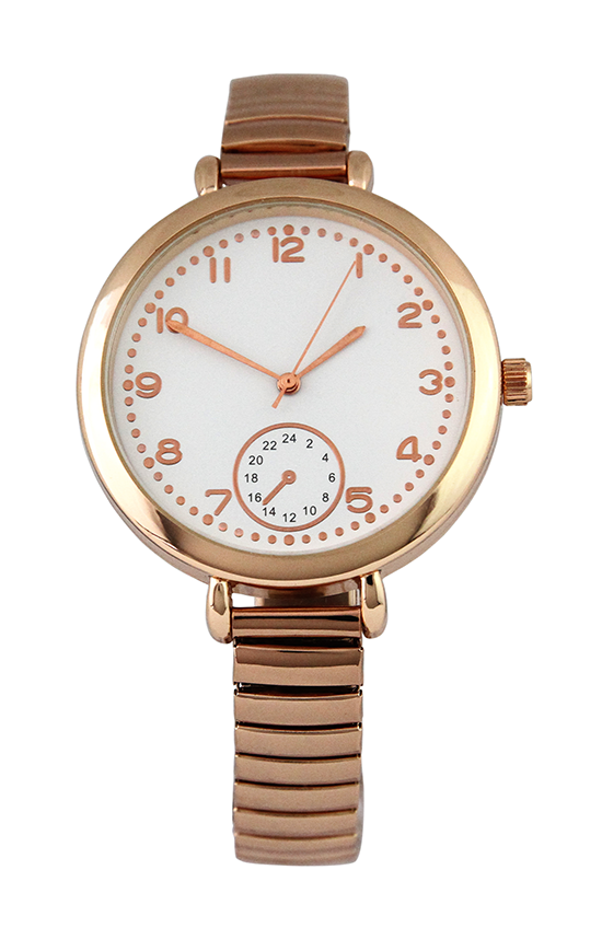 Metal Stretch Banded Watch