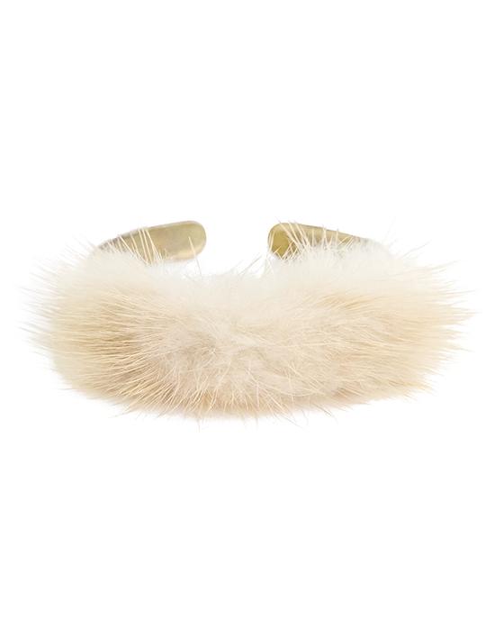 Faux-Fur Cuff Bracelet