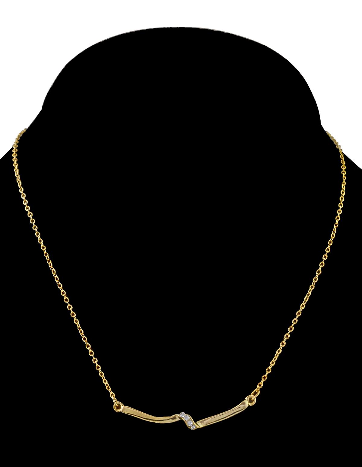 Rhinestone Twig Necklace