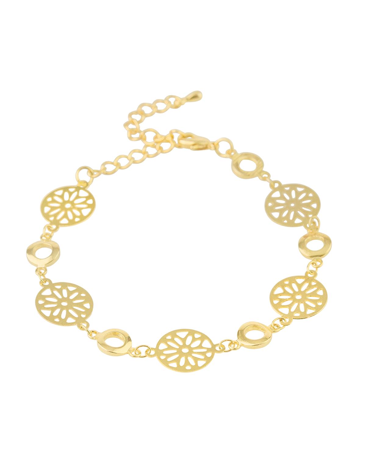 Floral Cutout Bracelet