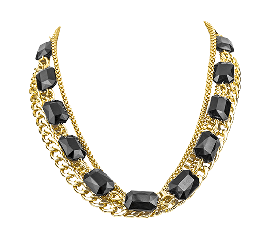 Chain and Stone Statement Necklace