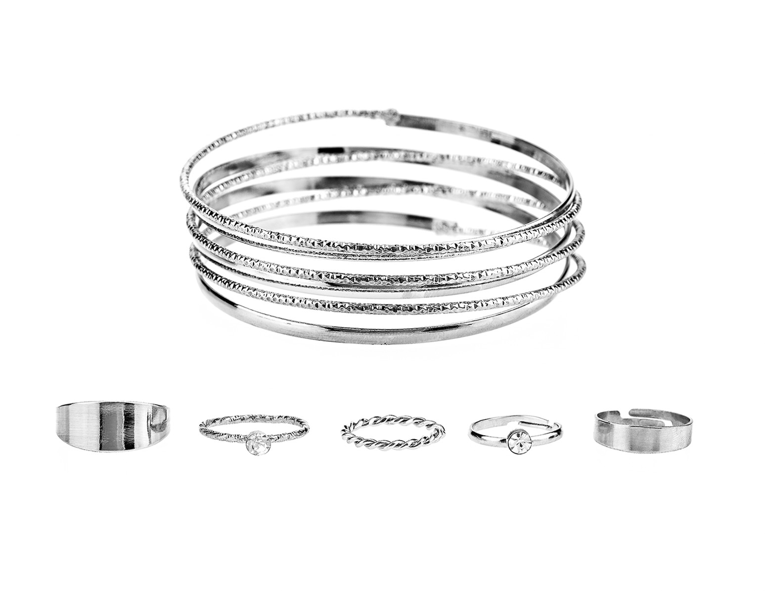 Bangle Cuff and Ringset