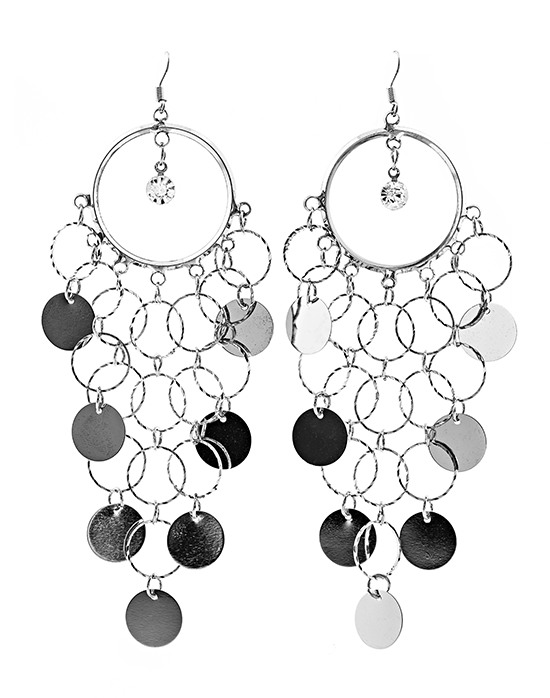 Disk Chandelier Earrings