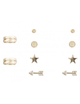 Studs & Cuff Earring Set of 5