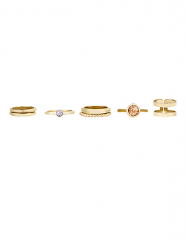 7 Piece Gold Midi Ring Set