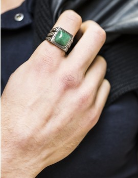 Jade Signet Ring