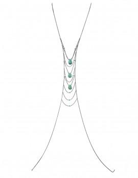 Turquoise Stone Body Chain