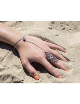 Rhinestone Accent Handchain