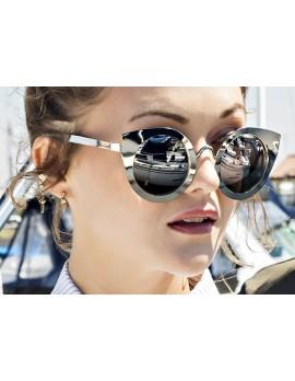 Cat-Eye Tinted Lens Glasses