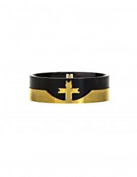 2 Piece Split Cross Ring