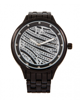Rhinestone Wave Chainlink Watch