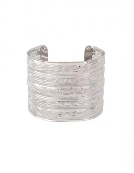 Engraved Stripe Cuff Bracelet