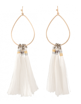 Hoop and Tassle Earrings